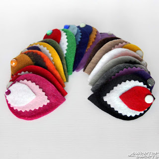 Mini Felt Fascinators for Girls and Women at SweeterThanSweets on Etsy