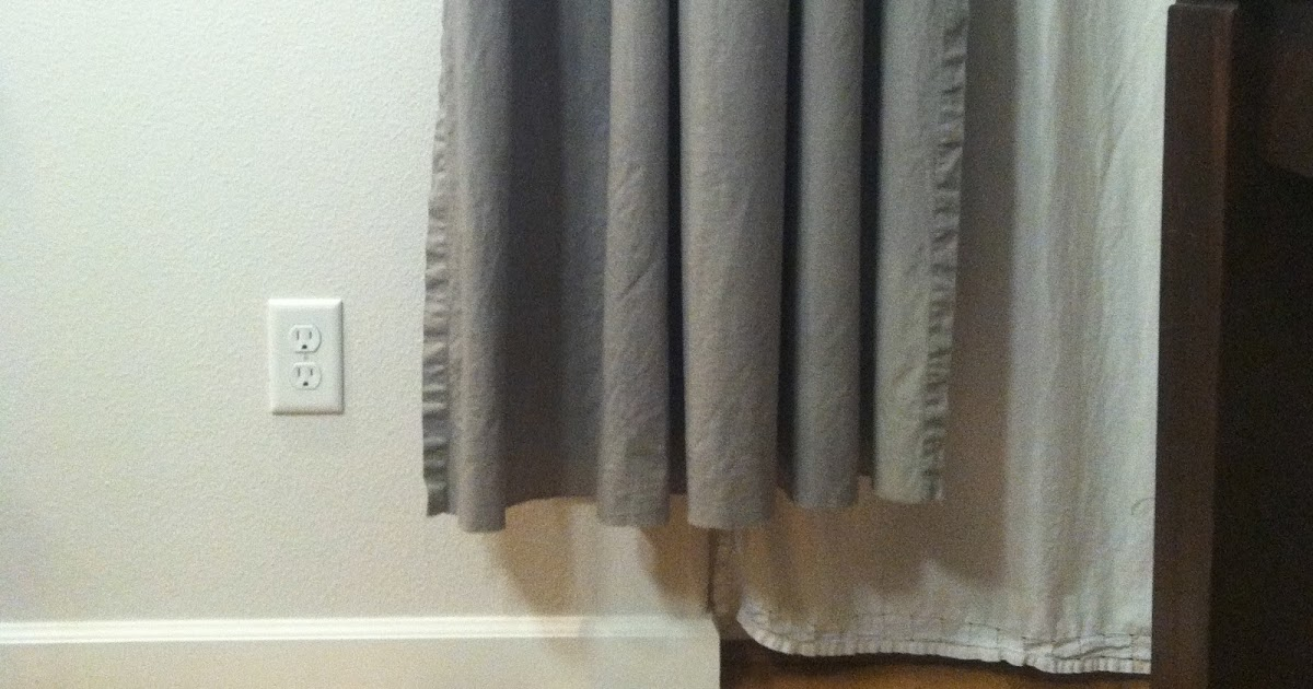 Two pairs of DIY curtains for my dining room, plus a DIY double ...