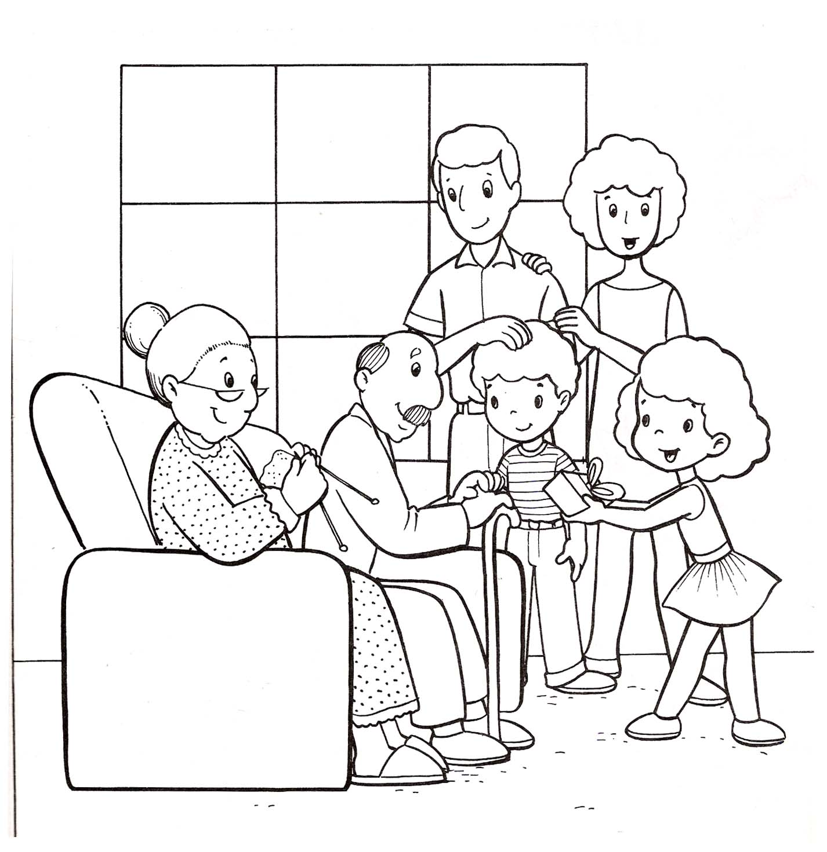 Images For > Familias Unidas Para Colorear
