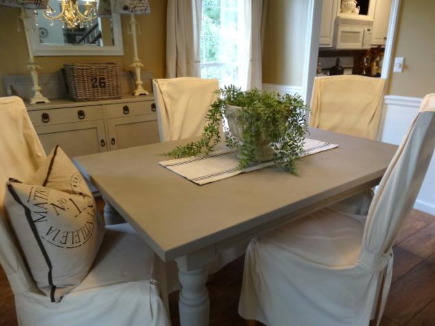 Almacén de inspiraciones: kelly pinta la mesa del comedor