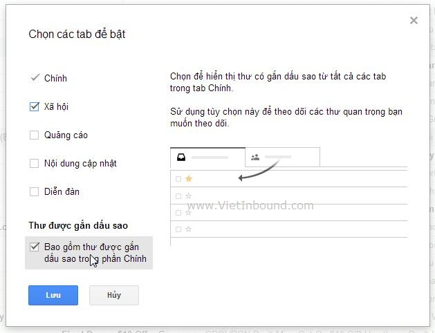 Cấu hình hộp thư đến Gmail để trình bày các tab theo ý muốn