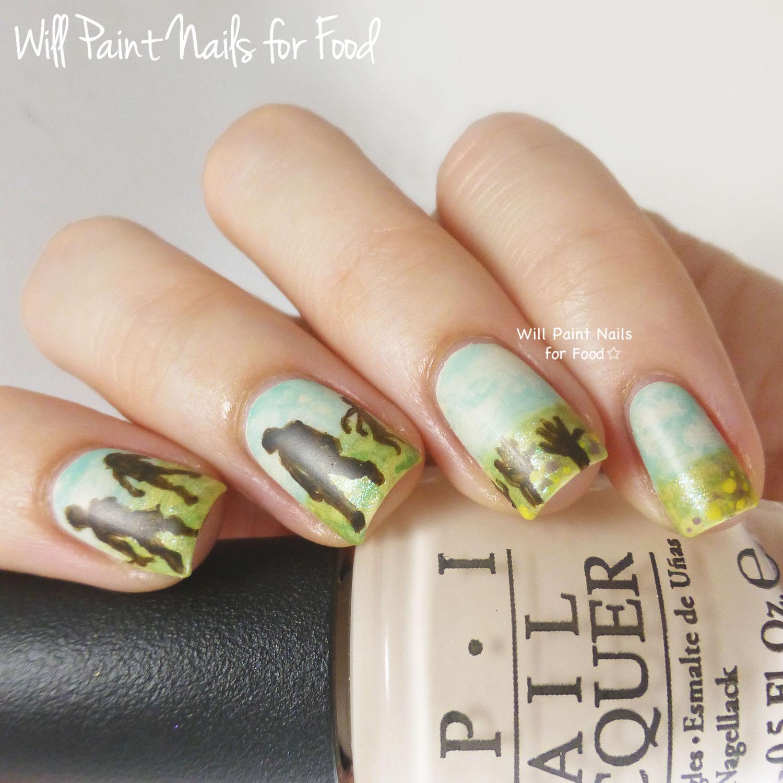 Summer...and zombies nail art