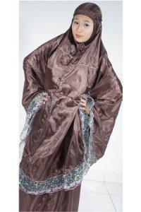 Mukena Abutai 2 - Coklat Tua (Toko Jilbab dan Busana Muslimah Terbaru)