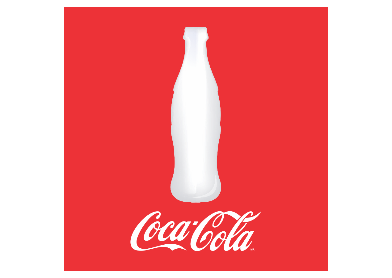 Coca-cola with bottle Logo Vector download free