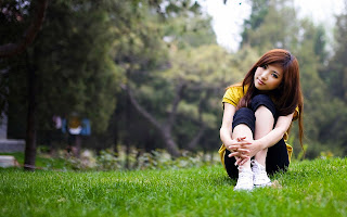 Cute Asian Girl In Love Nature HD Love Wallpaper