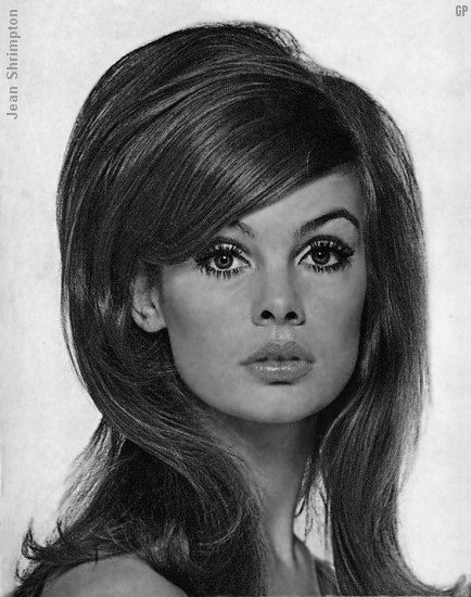 hairstyles for long hair on LUYI DIARY: Le Look of 60s--Jean Shrimpton