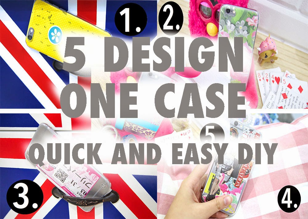 5 DESIGN 1 CASE! {EASY DIY PHONE CASE}