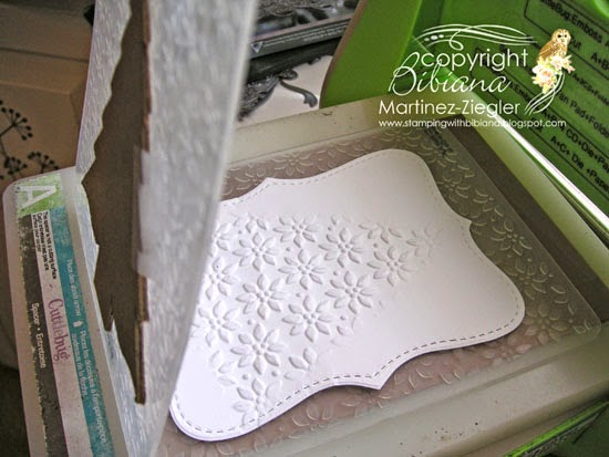 DIY embossing diffuser sandwich tree