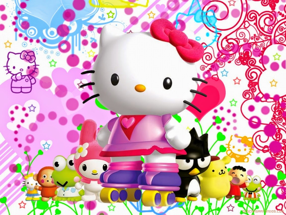 gambar hello kitty and friends wallpaper hd 3d