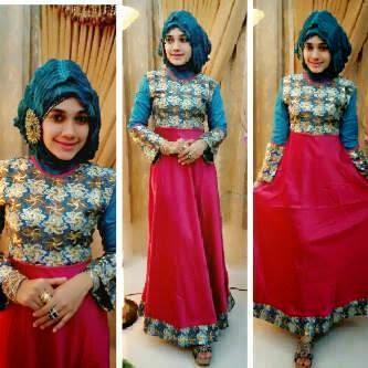 20 Desain Baju Gamis Model Turki Kombinasi Sari India