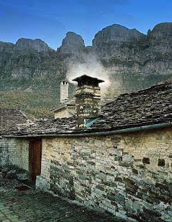 καμινάδα τζάκι  χωριό