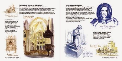 La collégiale Saint-Quiriace et Jeanne d'Arc