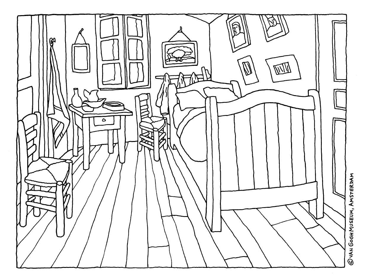 Semente da arte obras de arte para colorir for Habitacion dibujo