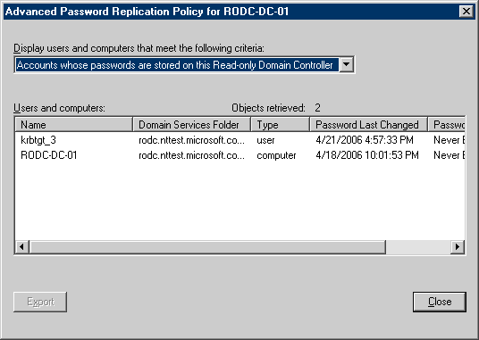 Hardware and networking rodc in the drop down list click accounts whose passwords are stored on this read only domain controller as shown in the following illustration yadclub Images