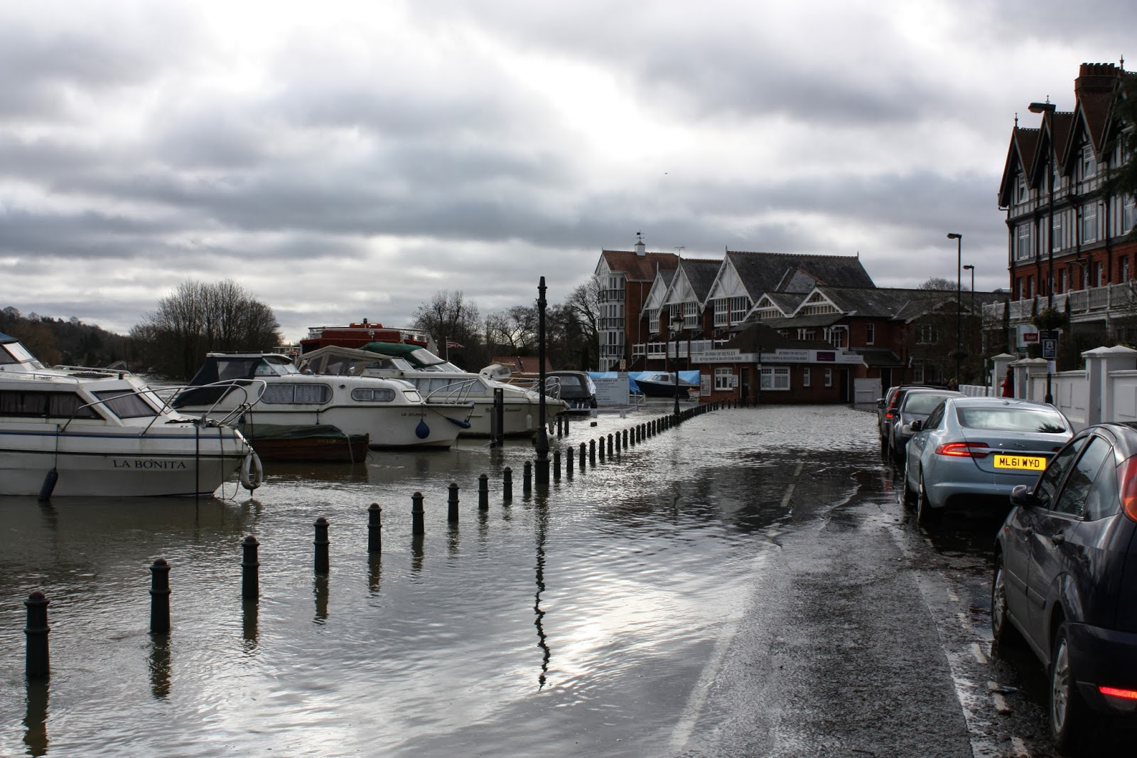 Thameside flooded, Henley on Thames