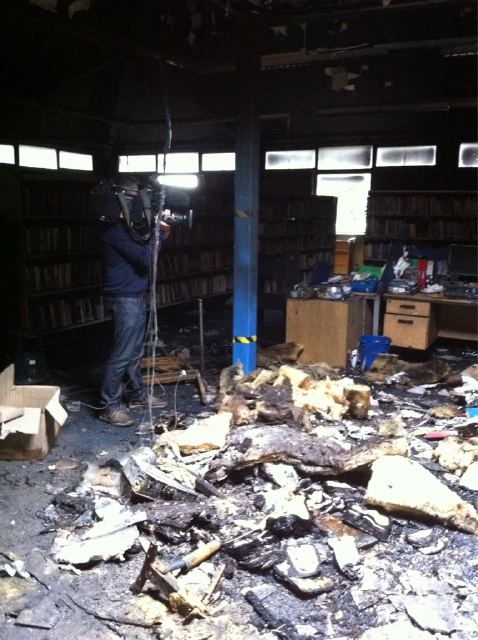 Burned Salford Library Stock