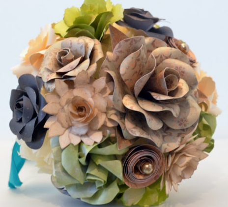 http://www.favcreations.com/product/handmade-brown-paper-flower-bouquet-fallwinter-weddings/