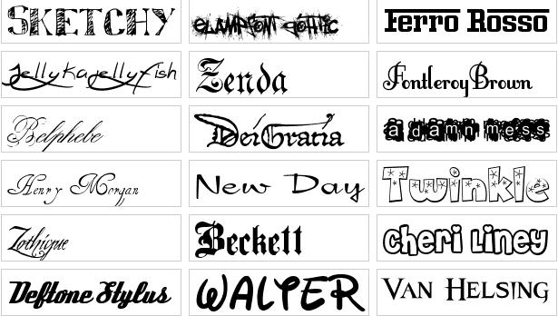 fonts para windows gratis: