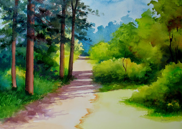 nel's everyday painting watercolor