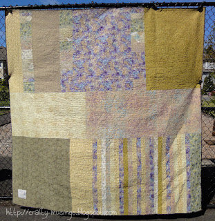 Haiku Quilt - back view