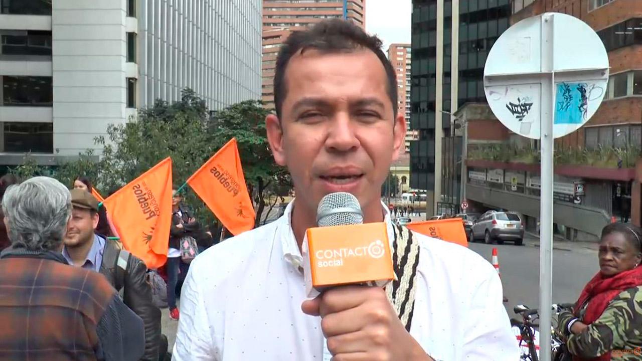 Ser Líder Social No es Delito - Plantón en solidaridad con Julián Gi