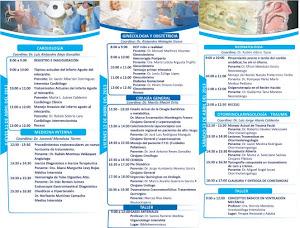 Programa 1er. Congreso Médico Regional del Hospital General Acámbaro