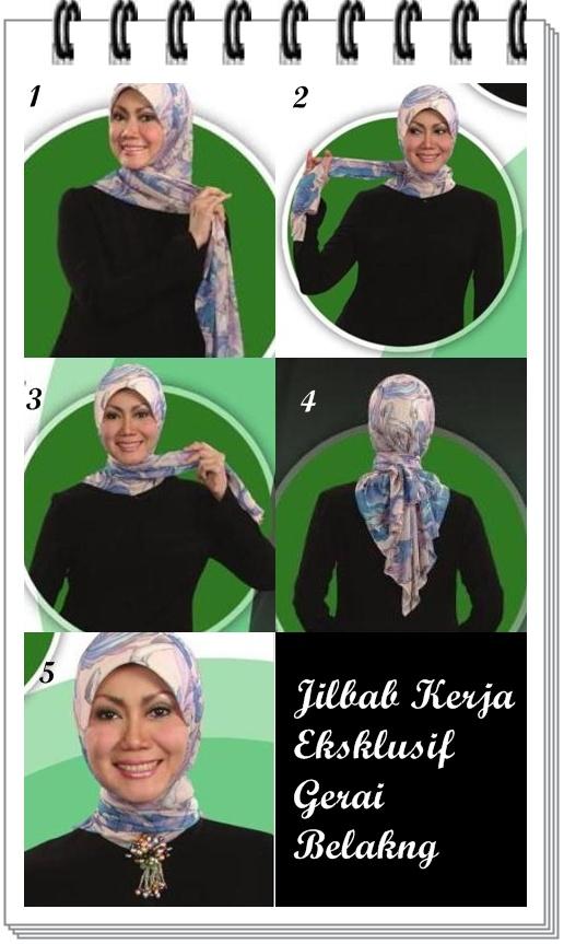 Rapikan jilbab. Untuk mempercantik penampilan, gunakan bross yang