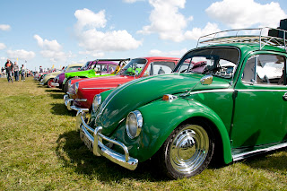 VW beetle line up photograph