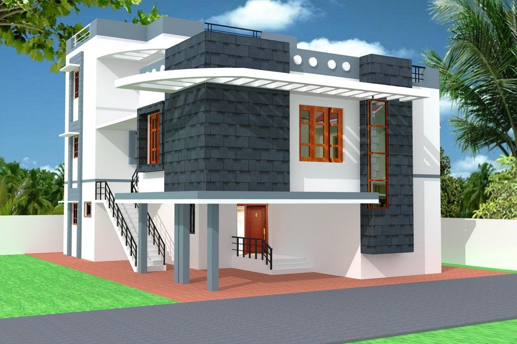 New home designs latest modern homes exterior beautiful for Indian home exterior designs