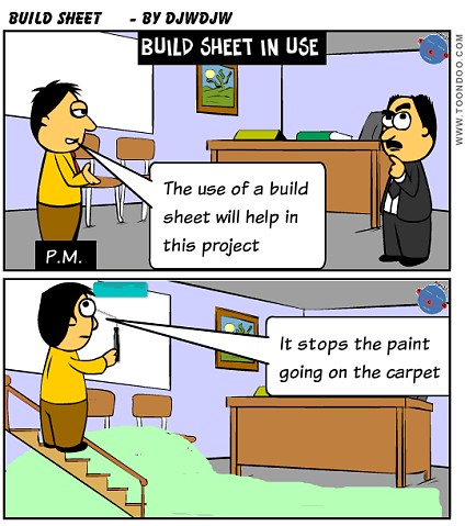 Project Build Phase - Build Sheet in use
