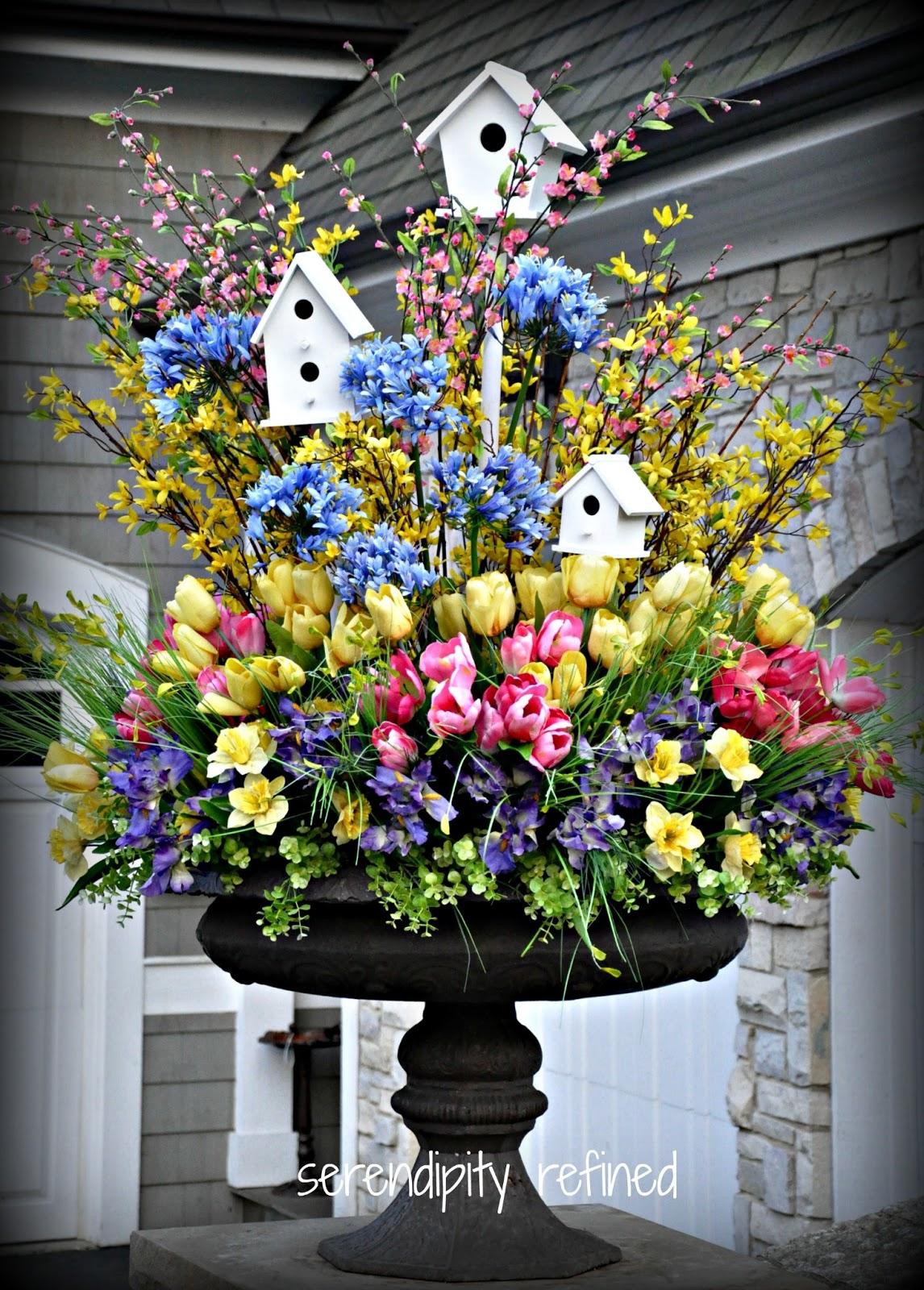 Serendipity Refined Blog Spring Urn Planter Tulips