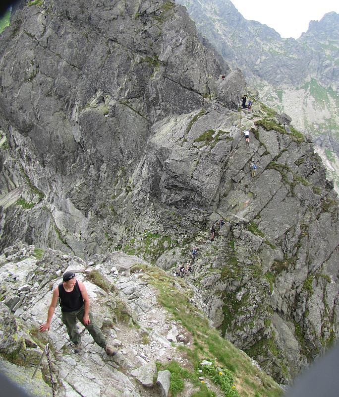 Widok ze szlaku na Kozich Czubach.