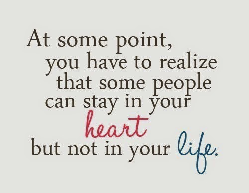 some people can stay in your heart but not in your life ... life quote whatsapp quote