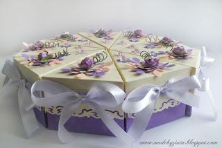 scrapbooking papierowy tort card making tort z papieru Barbara Wójcik Piekary Śląskie