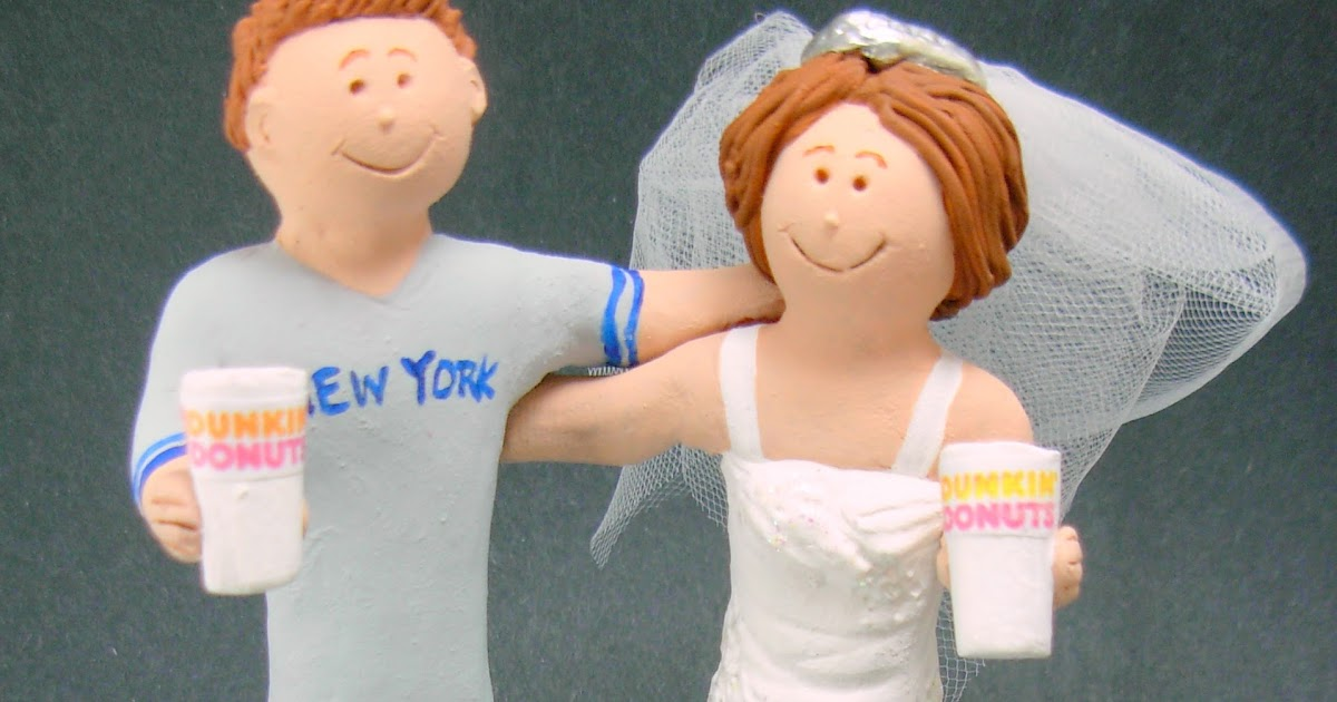 Custom Wedding Cake Toppers Dunkin Donuts Wedding Cake Topper