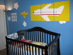 Our son's airplane nursery