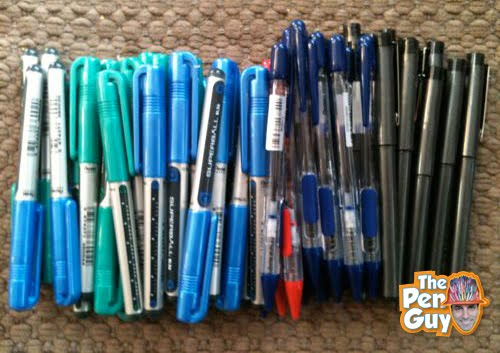 Pentel Super Ball, Fine Superball and Quickball Pens Donated by Pentel to The Pen Guy