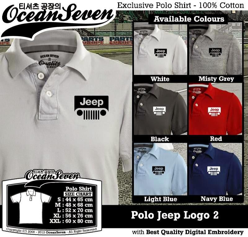 Kaos Polo Jeep Logo 2