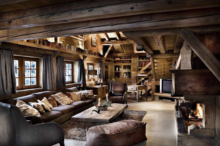 World of architecture 30 rustic chalet interior design ideas for Decoration interieur chalet montagne