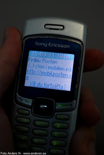 sten i mobilen, posten, sms, foto anders n