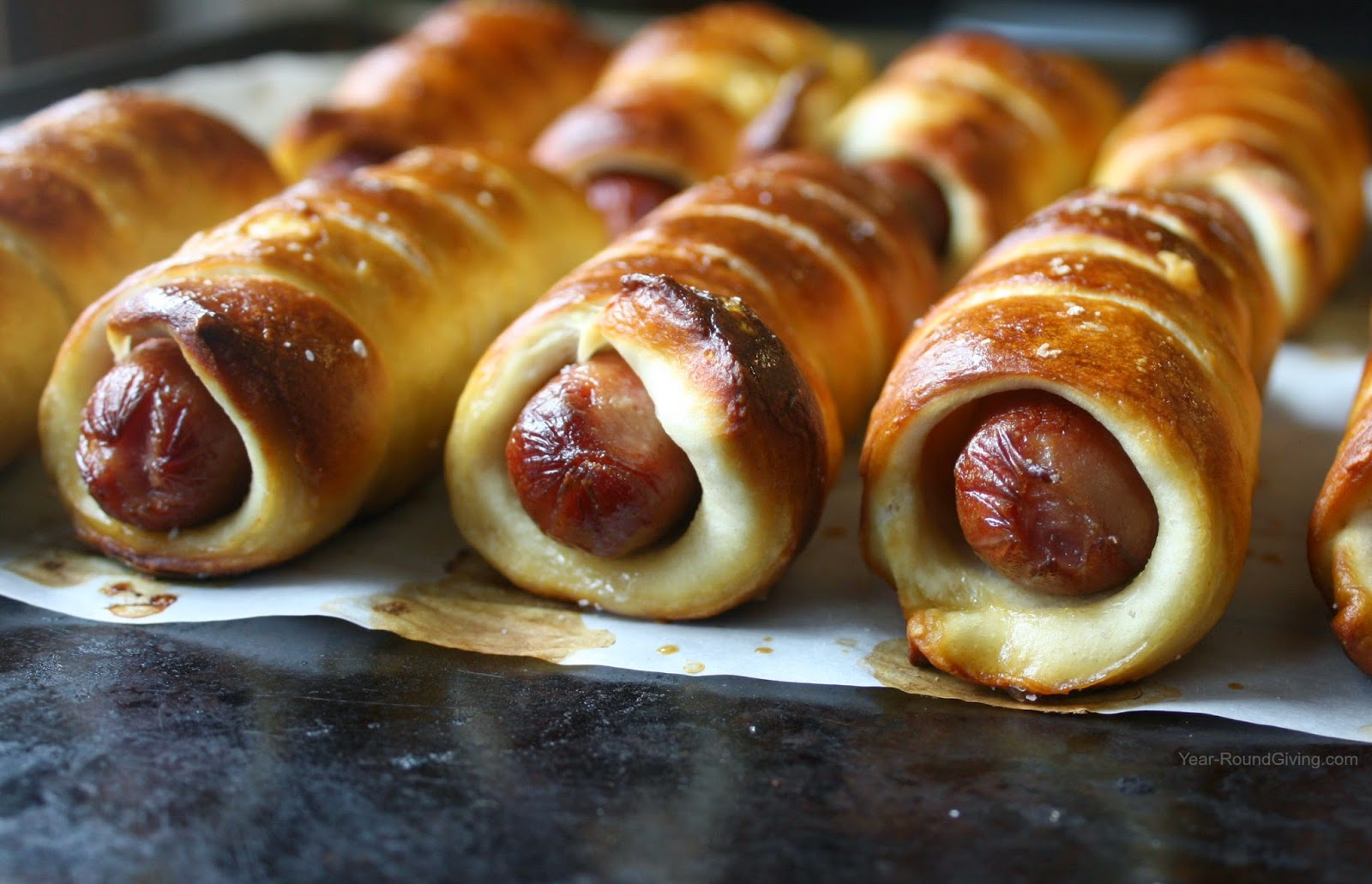 Beer Pretzel Dogs