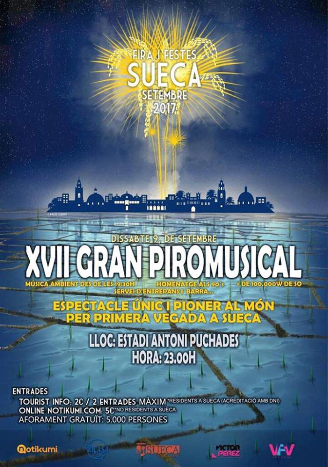 XVII GRAN PIROMUSICAL SUECA 2017