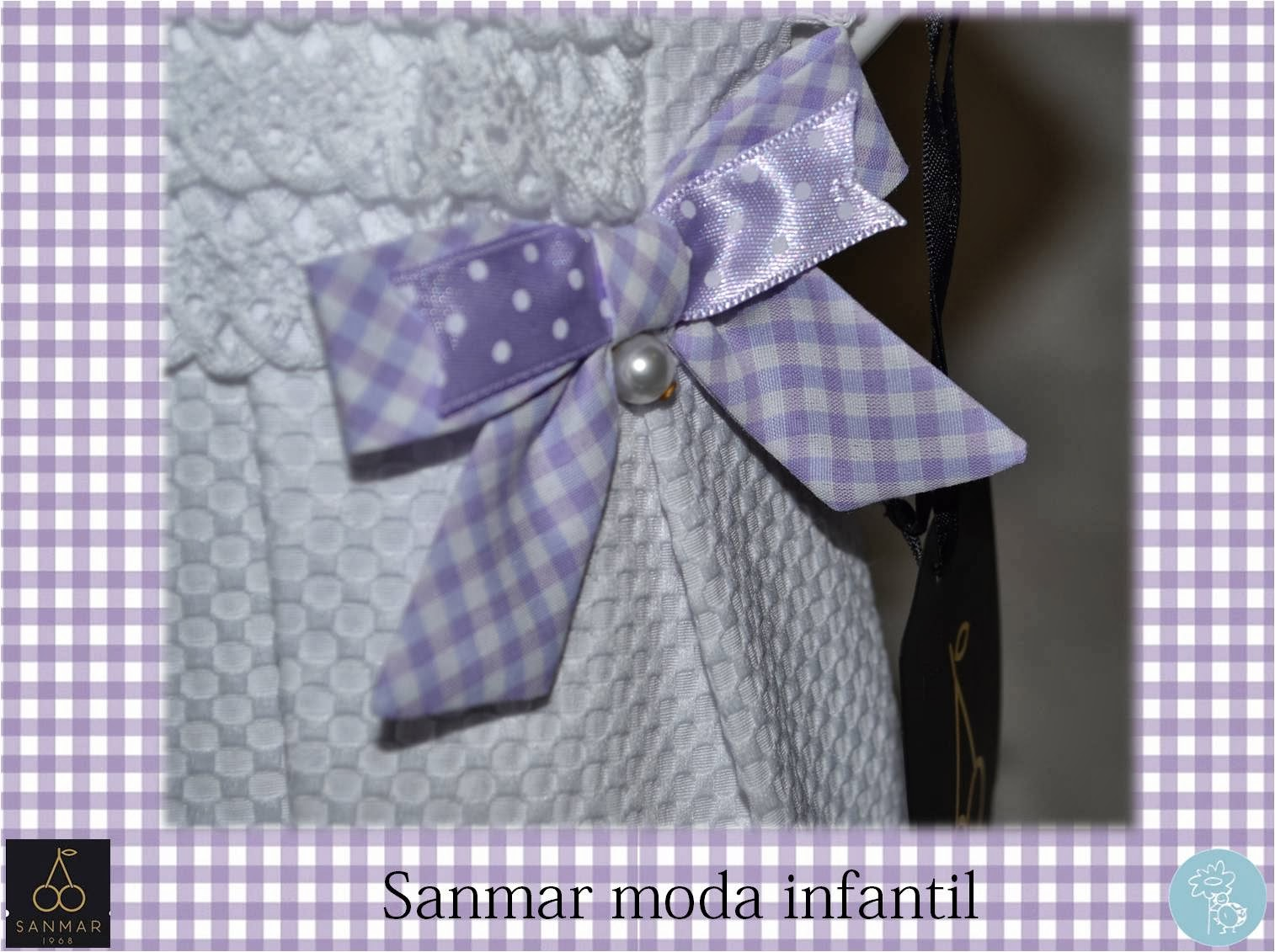 Sanmar moda infantil -colección violeta y blanco en Blog Retamal moda infantil