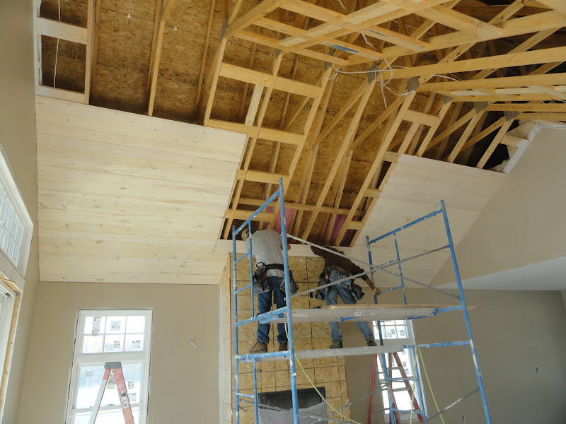 Kamish Lake Home Sept 28 Great Room Ceiling Going Up