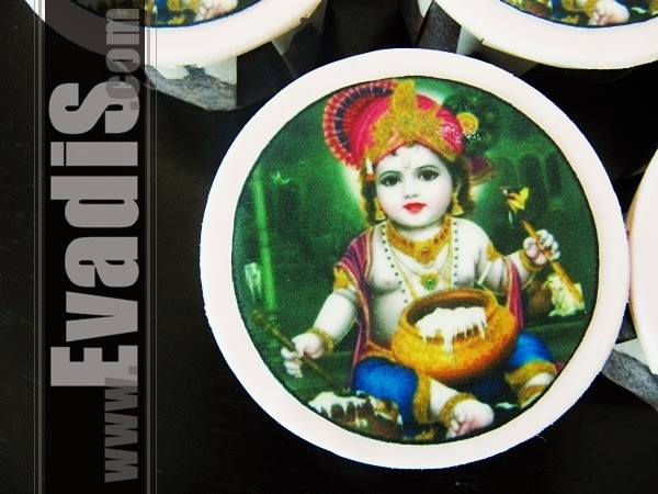 Picture of individual Lord Krishna cupcakes