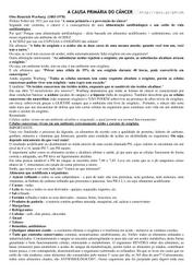 A CAUSA PRIMÁRIA DO CÂNCER