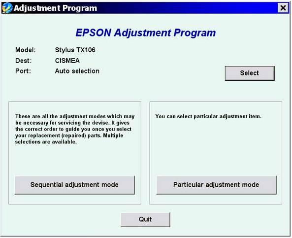 Epson TX101 Resetter Download