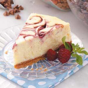 White Chocolate Raspberry Cheesecake Recipe ~ Easy Dessert Recipes