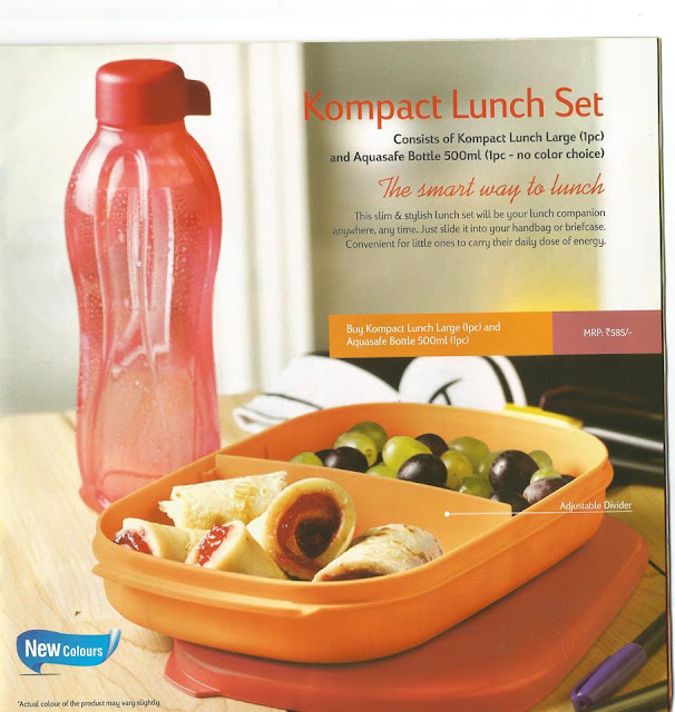 Tupperware Kompact Lunch  Set  The smart way to Lunch June 2015