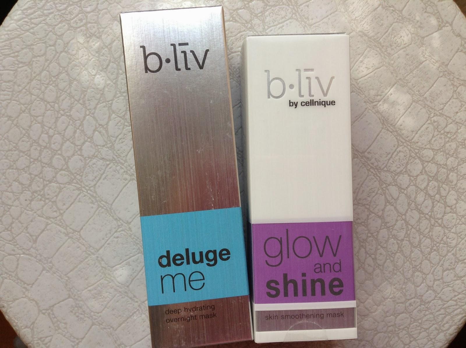 >> 保養系列必備去角質補水面膜*信美肌 b.liv by cellnique Glow and Shine & Deluge Me面膜